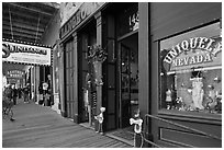 Gallery with souvenir shop. Virginia City, Nevada, USA (black and white)