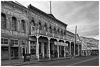 Historic buildings. Virginia City, Nevada, USA ( black and white)