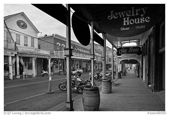 Gallery and main street. Virginia City, Nevada, USA