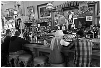 Saloon bar. Virginia City, Nevada, USA (black and white)