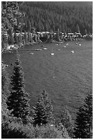 Incline Village, North shore, Lake Tahoe, Nevada. USA (black and white)