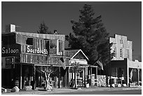 Saloon on main street, Beatty. Nevada, USA ( black and white)