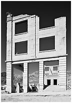 Bank ruins, Ryolite. Nevada, USA ( black and white)