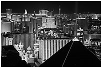 Las Vegas strip and Casinos at night. Las Vegas, Nevada, USA ( black and white)