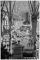 Fremont street experience, downtown. Las Vegas, Nevada, USA ( black and white)