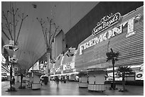 Fremont Casino, Fremont Street. Las Vegas, Nevada, USA ( black and white)