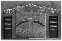 Oskar Hansen memorial. Hoover Dam, Nevada and Arizona ( black and white)