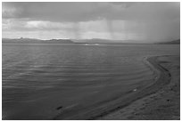 Approaching storm. Pyramid Lake, Nevada, USA ( black and white)