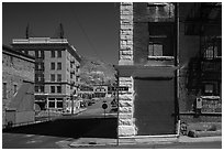 Historic buildings. Nevada, USA (black and white)