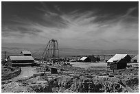 Tonopah historic mining park. Nevada, USA ( black and white)