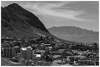 View of downtown. Nevada, USA (black and white)