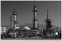 Refinery. Nevada, USA ( black and white)