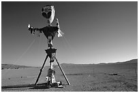 Whimsy sculpture, Black Rock Desert. Nevada, USA ( black and white)