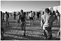 Morning dance, Black Rock Desert. Nevada, USA ( black and white)