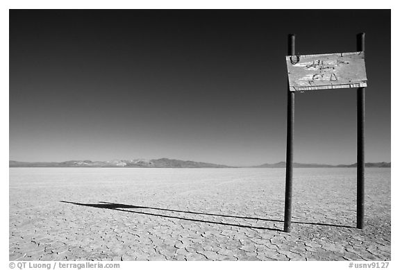 Sign in the middle of nowhere, Black Rock Desert. Nevada, USA