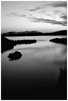 Emerald Bay, dawn, Lake Tahoe, California. USA ( black and white)