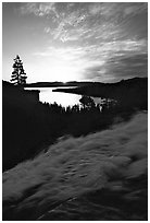 Eagle Falls,  Emerald Bay, sunrise, South Lake Tahoe, California. USA (black and white)