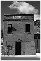 Old brick house, Pioche. Nevada, USA (black and white)