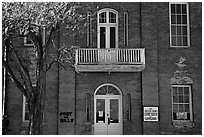 Old court house, Pioche. Nevada, USA ( black and white)