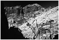High cliffs. Red Rock Canyon, Nevada, USA ( black and white)