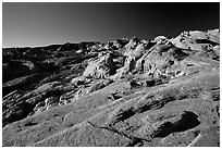 Colorful sandstone formations, early morning, Valley of Fire State Park. Nevada, USA ( black and white)