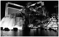 Mirage casino by night. Las Vegas, Nevada, USA ( black and white)