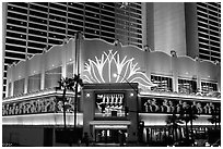 Flamingo casino by night. Las Vegas, Nevada, USA (black and white)