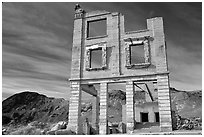 Ruins, Rhyolite ghost town. Nevada, USA ( black and white)