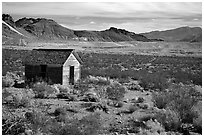 Cabin, Rhyolite ghost town. Nevada, USA ( black and white)