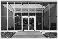 Menil Collection Entrance. Houston, Texas, USA ( black and white)