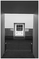 Doors, James Turrel Skyspace, Rice University. Houston, Texas, USA ( black and white)