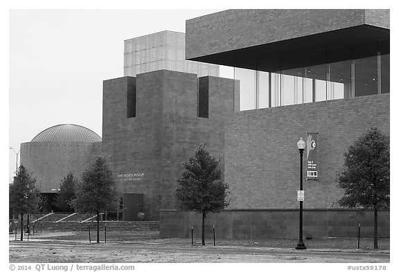 Forth Worth Museum of Science. Fort Worth, Texas, USA (black and white)