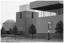 Forth Worth Museum of Science. Fort Worth, Texas, USA ( black and white)