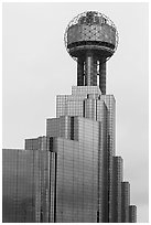 Reunion Tower. Dallas, Texas, USA ( black and white)