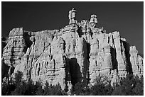 Pink sandstone cliffs, Red Canyon. Utah, USA (black and white)