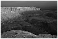 Cliffs near Muley Point, sunset. Utah, USA ( black and white)