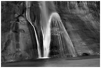 Lower Calf Creek Falls, Grand Staircase Escalante National Monument. Utah, USA ( black and white)