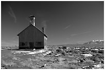 Church near Moab. Utah, USA (black and white)