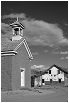 Church of Grafton. Utah, USA ( black and white)