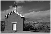 Church of Grafton. Utah, USA (black and white)