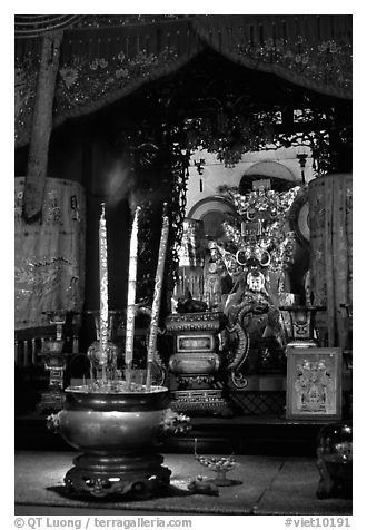 Altar. Ho Chi Minh City, Vietnam (black and white)