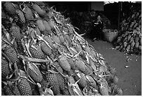 Loads of pinaaples. Cholon, Ho Chi Minh City, Vietnam ( black and white)
