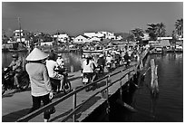 Mobile bridge, Duong Dong. Phu Quoc Island, Vietnam ( black and white)