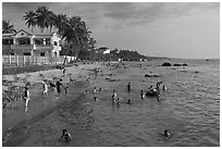 Long Beach, Duong Dong. Phu Quoc Island, Vietnam ( black and white)