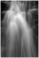 Close-up of waterfall, Suoi Tranh. Phu Quoc Island, Vietnam ( black and white)