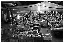 Night market. Ho Chi Minh City, Vietnam (black and white)