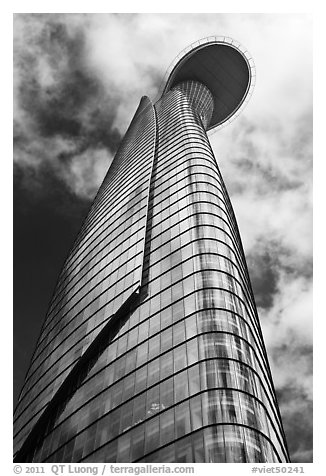 Bitexco Financial Tower. Ho Chi Minh City, Vietnam (black and white)