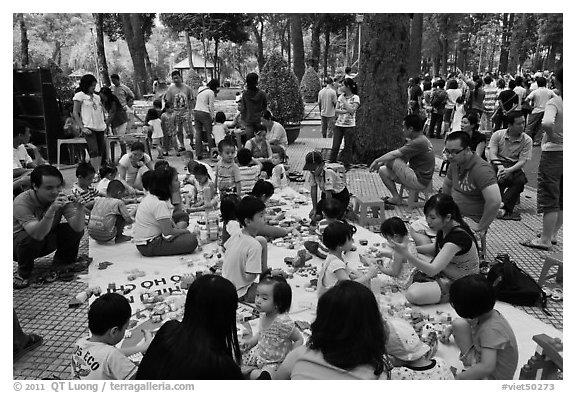 Babies and toddlers, Cong Vien Van Hoa Park. Ho Chi Minh City, Vietnam