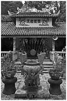 Temple, Cong Vien Van Hoa Park. Ho Chi Minh City, Vietnam (black and white)