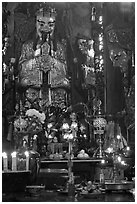 Taoist Jade Emperor (King of Heaven), Phuoc Hai Tu pagoda, District 3. Ho Chi Minh City, Vietnam ( black and white)